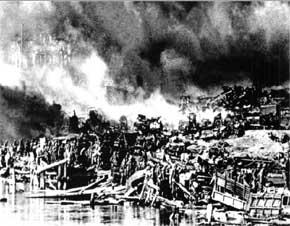 Wajah Stalingrad di tepi sungai Volga, beratnya pertempuran menjadikannya kota hantu